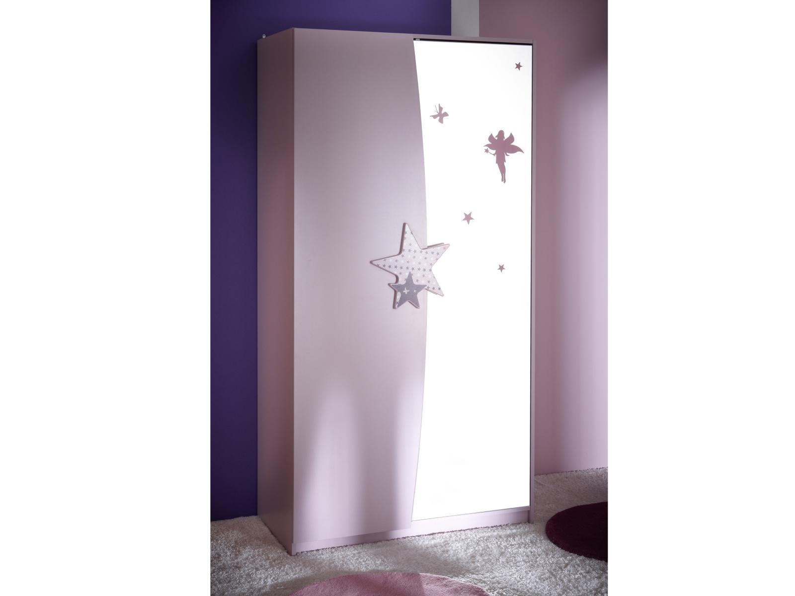 DEMEYERE FEI, skříň 2D se zrcadlem, fialková