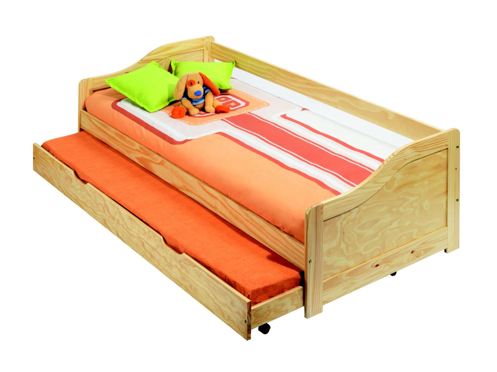 DEMEYERE EDUARD, postel 90x200 cm, masiv borovice