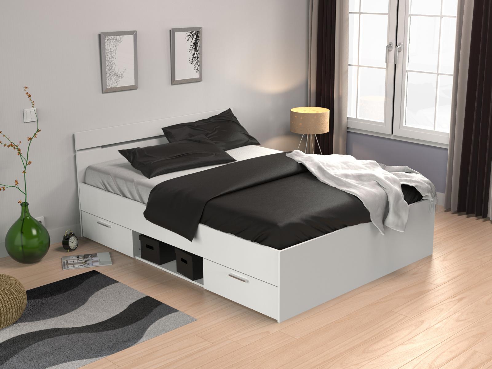 DEMEYERE MACHIGAN, postel 140x200 cm, bílá