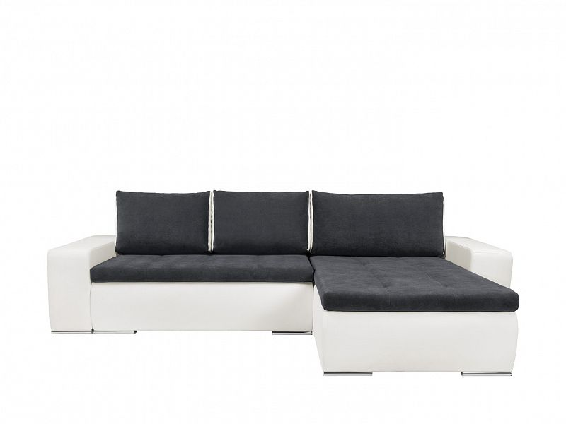 Black Red White Rohová sedačka MONTANA II LUX, univerzální roh, bílá/šedá