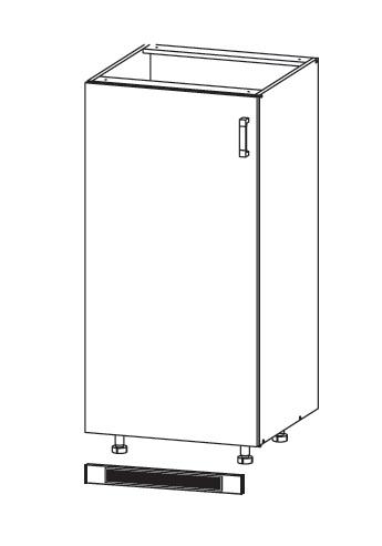 Smartshop TAPO PLUS dolní skříňka DL60/143, korpus congo, dvířka grafit lesk