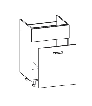 Smartshop PLATE dolní skříňka DKS60 SMARTBOX pod dřez, korpus wenge, dvířka dub wenge