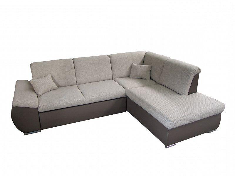 ORFA MIX Rohová sedačka CARO, pravá, šedá/hnědá