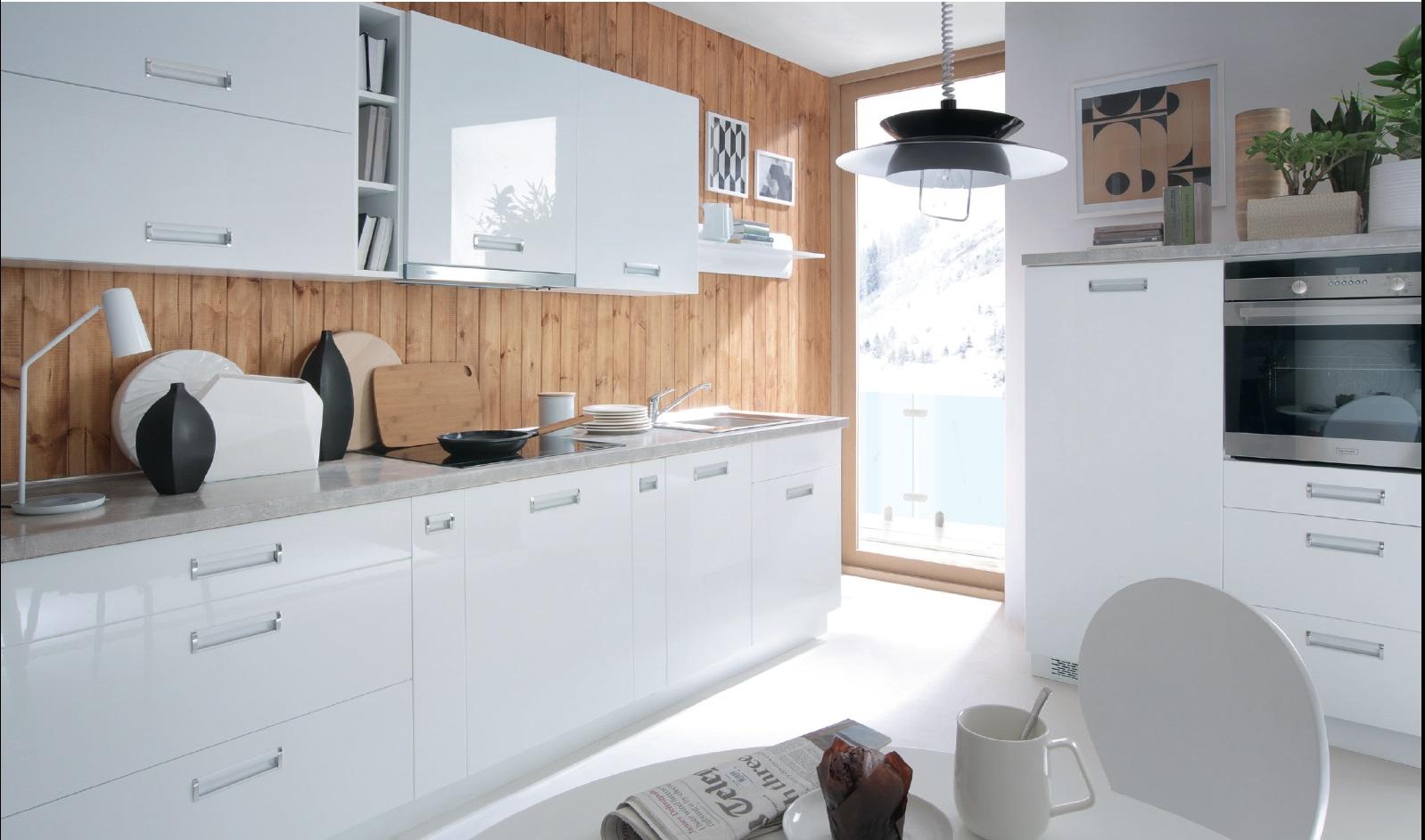 Smartshop Kuchyně TAFNE, VZOROVÁ SESTAVA, bílý lesk