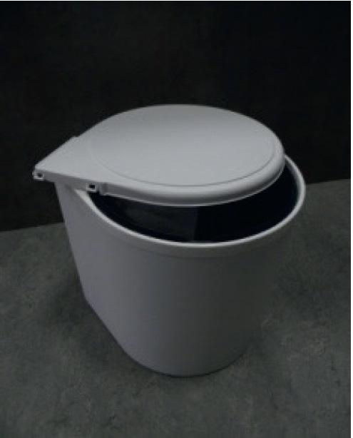 Smartshop Odpadkový koš kulatý, bílý, automat