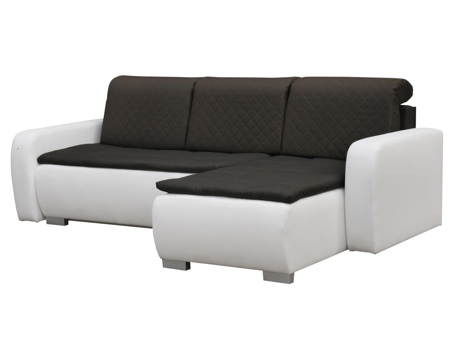 Smartshop Rohová sedačka GRAND 9, pravá, hnědá/bílá