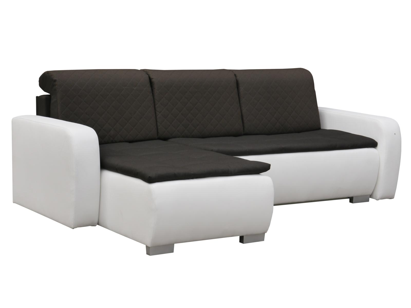 Smartshop Rohová sedačka GRAND 9, levá, hnědá/bílá