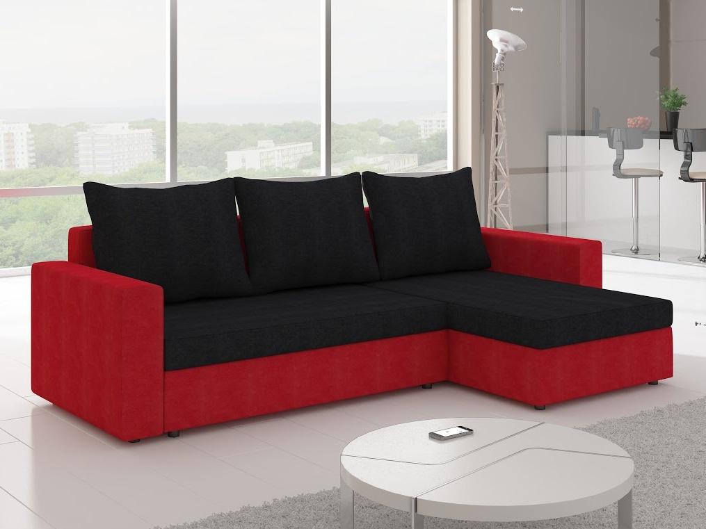 ELTAP Rohová sedačka LIVIO 2, černá/červená
