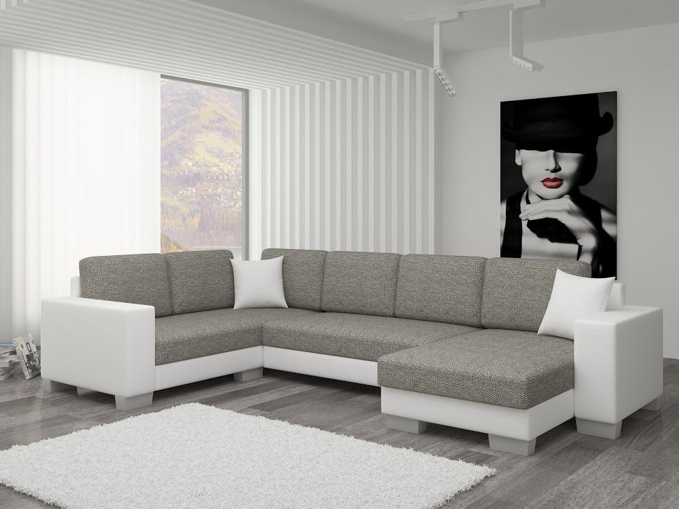 ELTAP Rohová sedačka MARCO 01 pravá, šedá/bílá