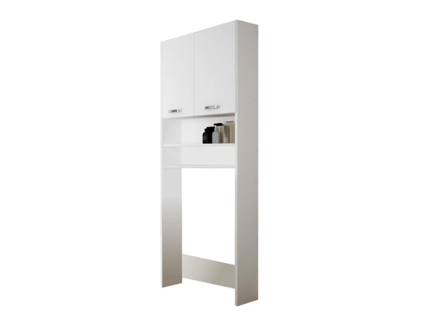 SINDY 901, skříňka nad pračku, alpská bílá/bílý lesk, v. 189,9cm, š. 63,9 cm, hl. 24,6 cm