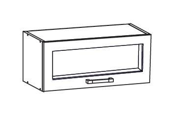 Smartshop TAL2 horní skříňka GO80/36, korpus bílá alpská, dvířka milo