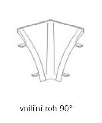 Smartshop Roh vnitřní, barva béžovobílá, 90 stupňový