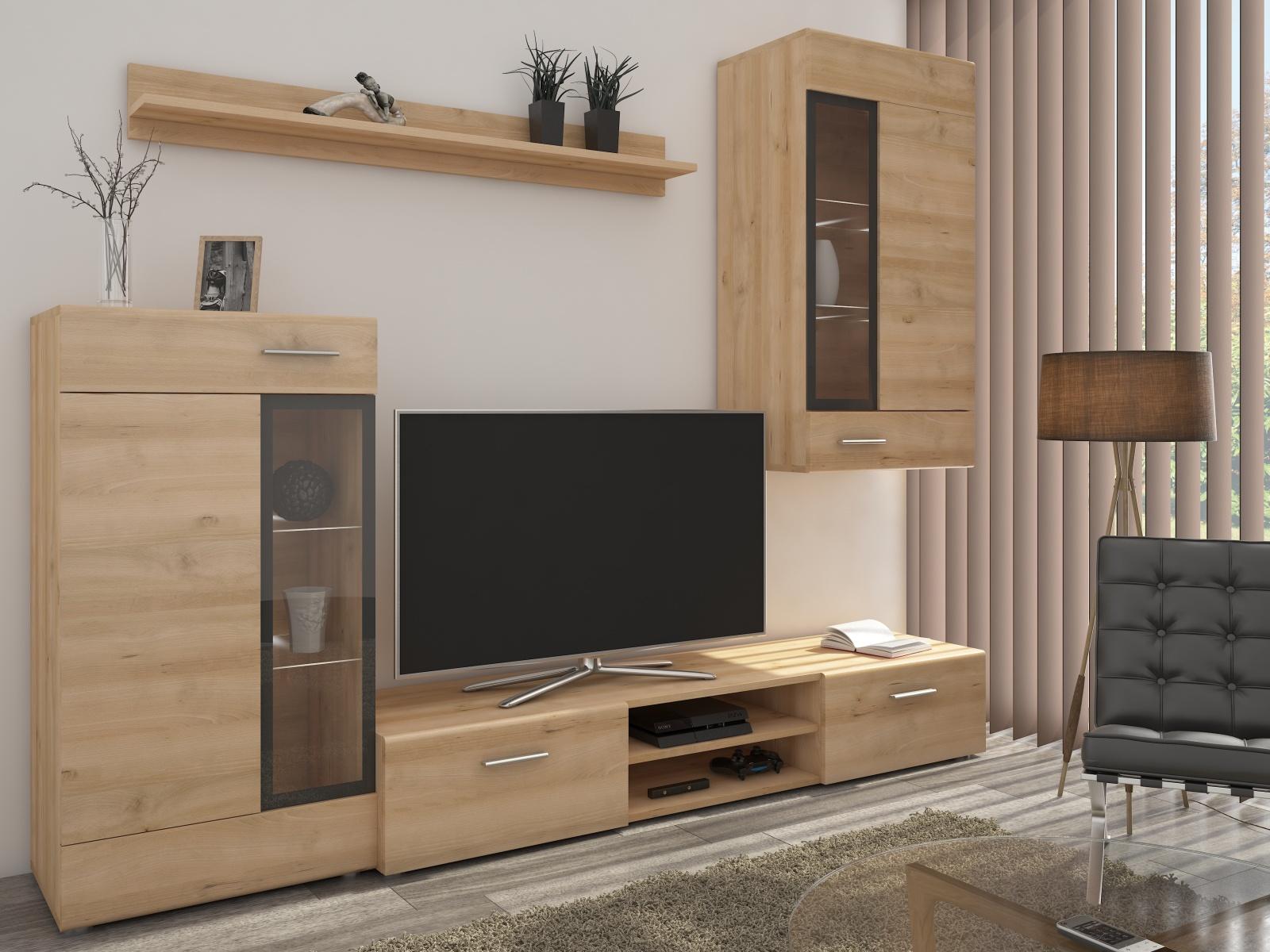 Smartshop Obývací stěna TANGO, buk iconic