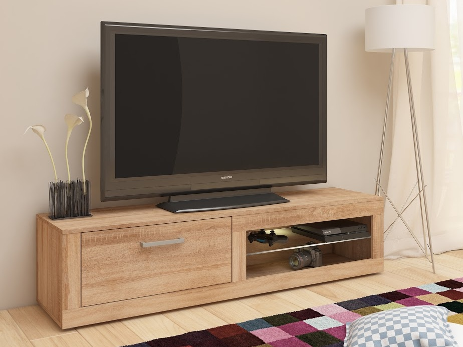 MORAVIA FLAT TV stolek VIKY NEW, dub sonoma