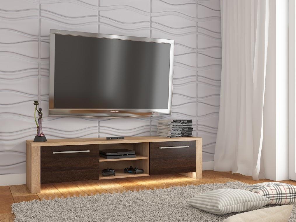 MORAVIA FLAT TV stolek HELIX NEW, dub sonoma/dub sonoma tmavý