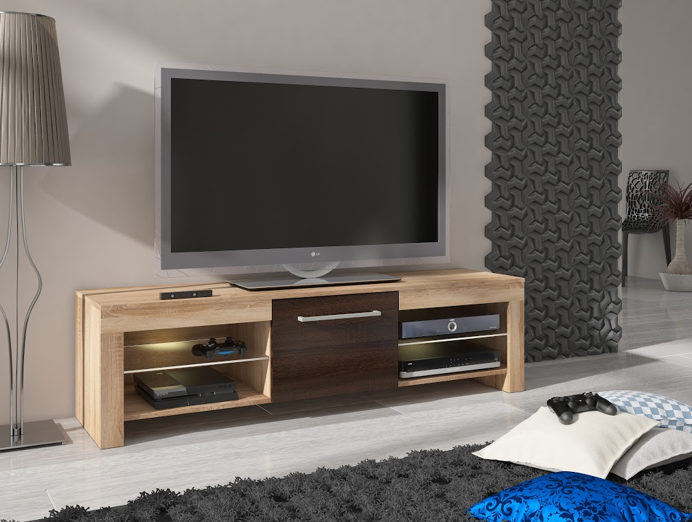 MORAVIA FLAT TV stolek FLEX, dub sonoma/dub sonoma tmavý