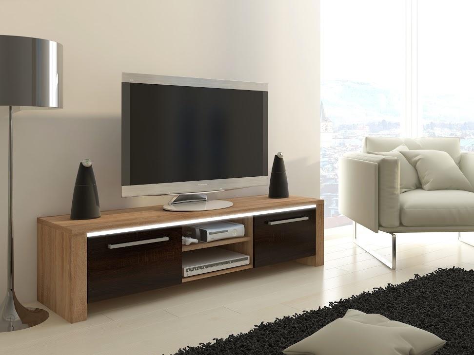 MORAVIA FLAT TV stolek HELIX, dub sonoma/dub sonoma tmavý