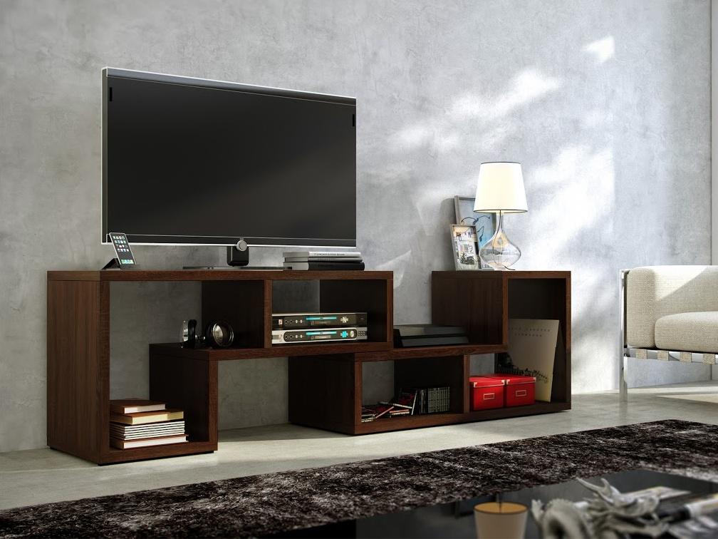MORAVIA FLAT TV stolek TOP, dub sonoma tmavý