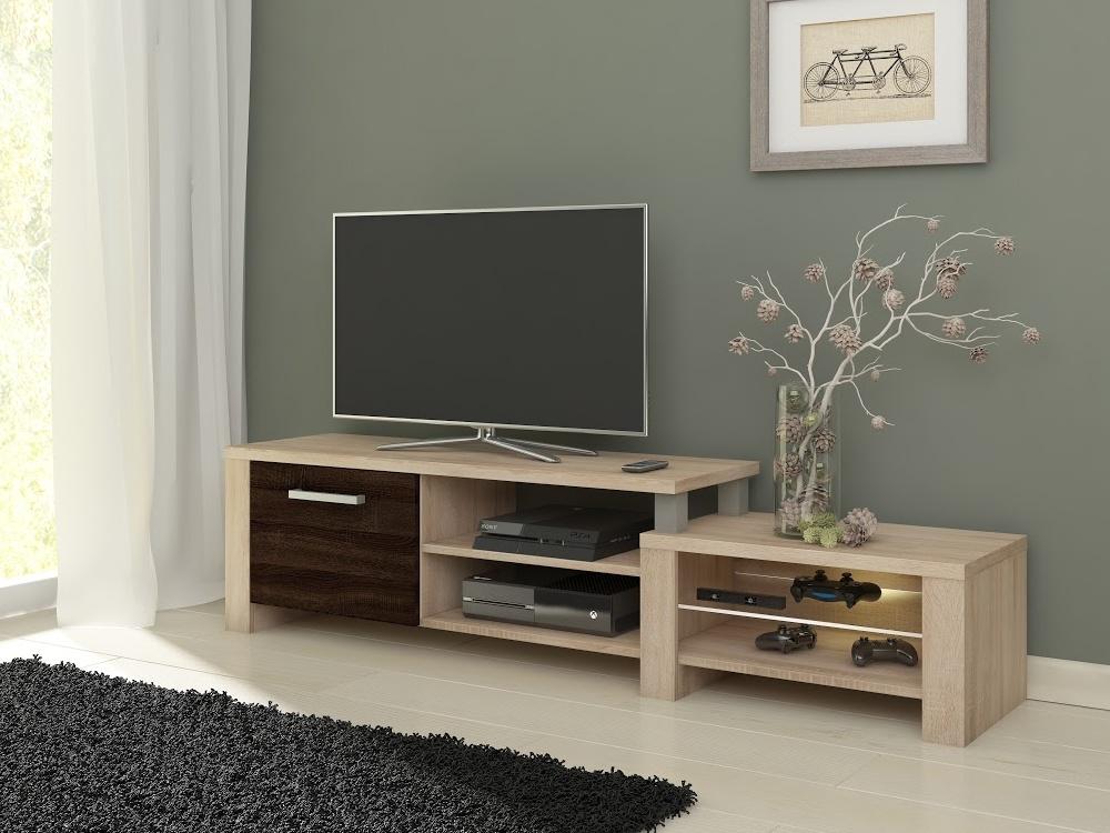 MORAVIA FLAT TV stolek ORION, dub sonoma/dub sonoma tmavý