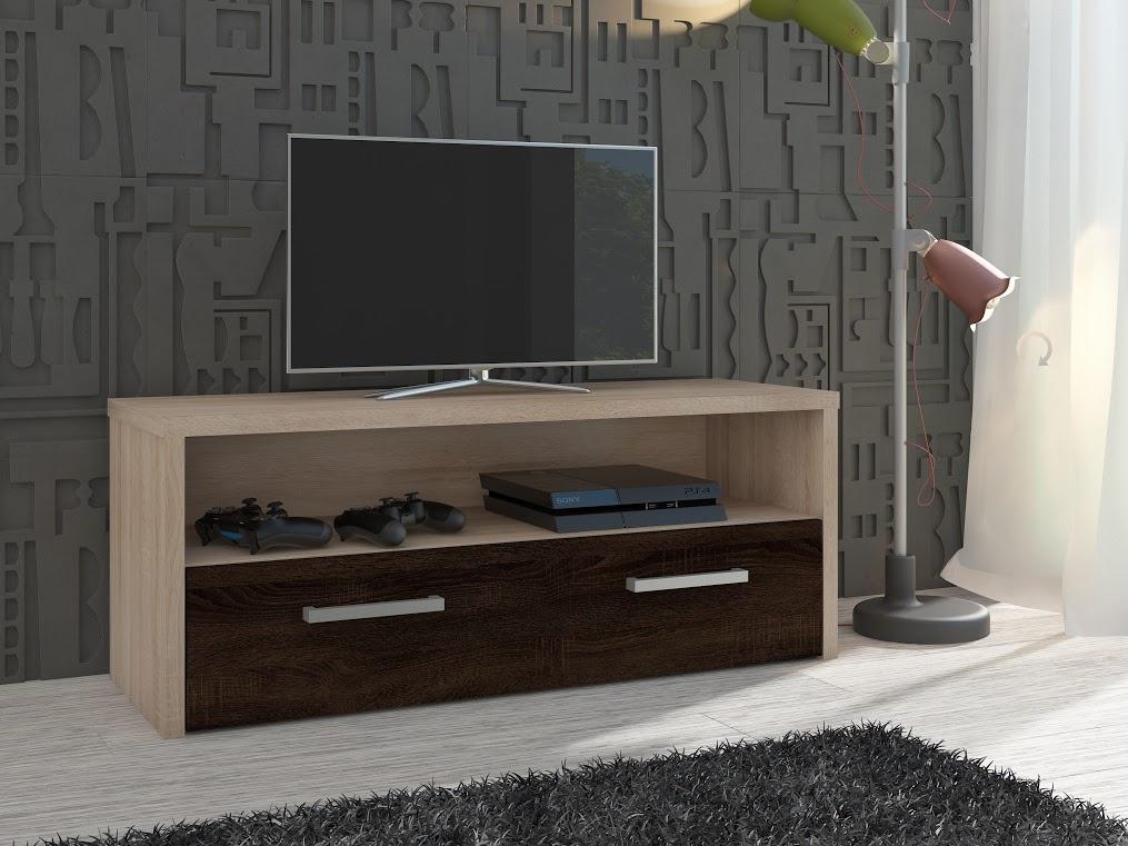 MORAVIA FLAT TV stolek TIRANA, dub sonoma/dub sonoma tmavý