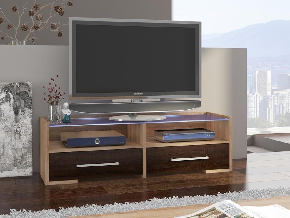 MORAVIA FLAT TV stolek SEMPRIO, dub sonoma/dub sonoma tmavý