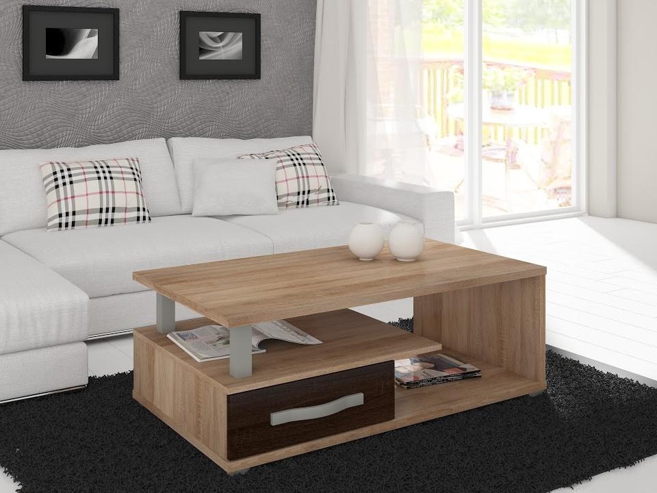 MORAVIA FLAT ANGEL konferenční stolek, dub sonoma/dub sonoma tmavý