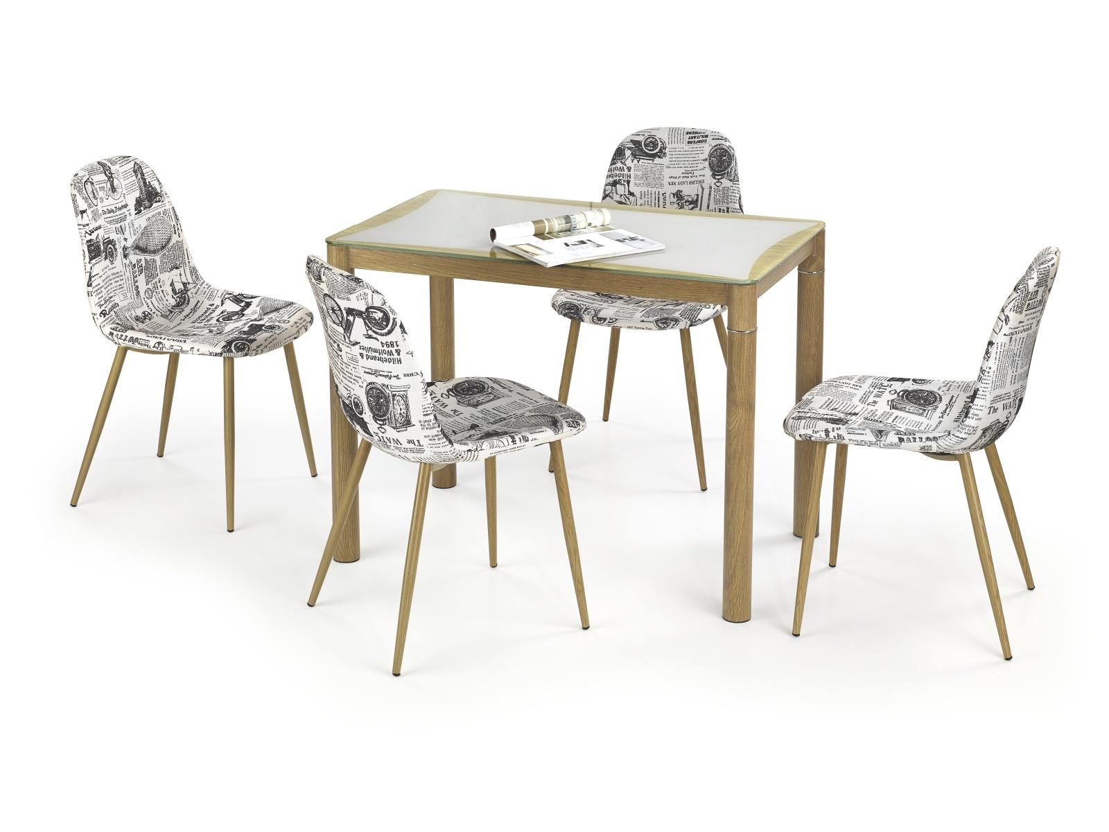 Halmar EPIR jídelní stůl, dub sonoma/šedá