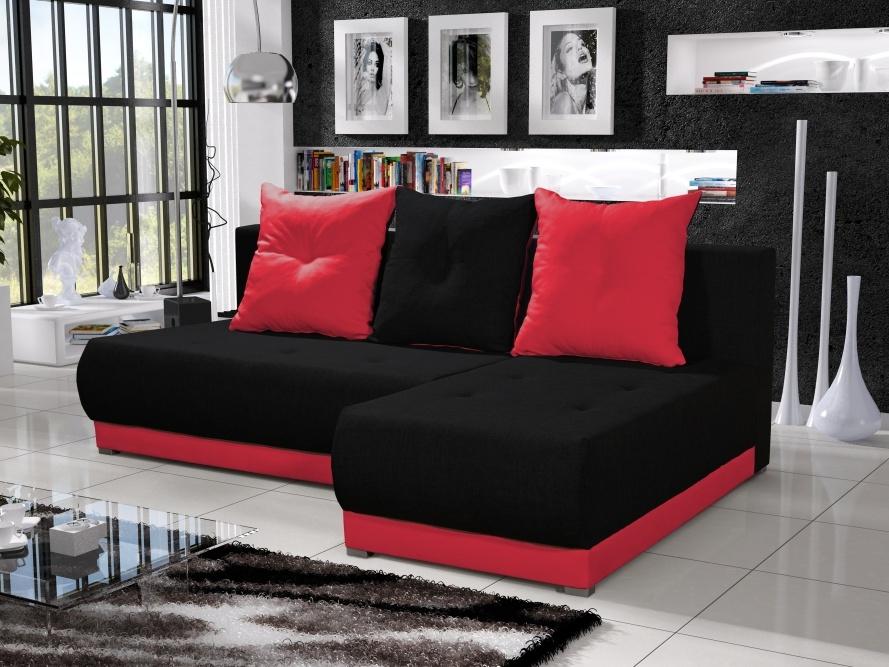 Smartshop Rohová sedačka INSIGNIA 1, černá/červená