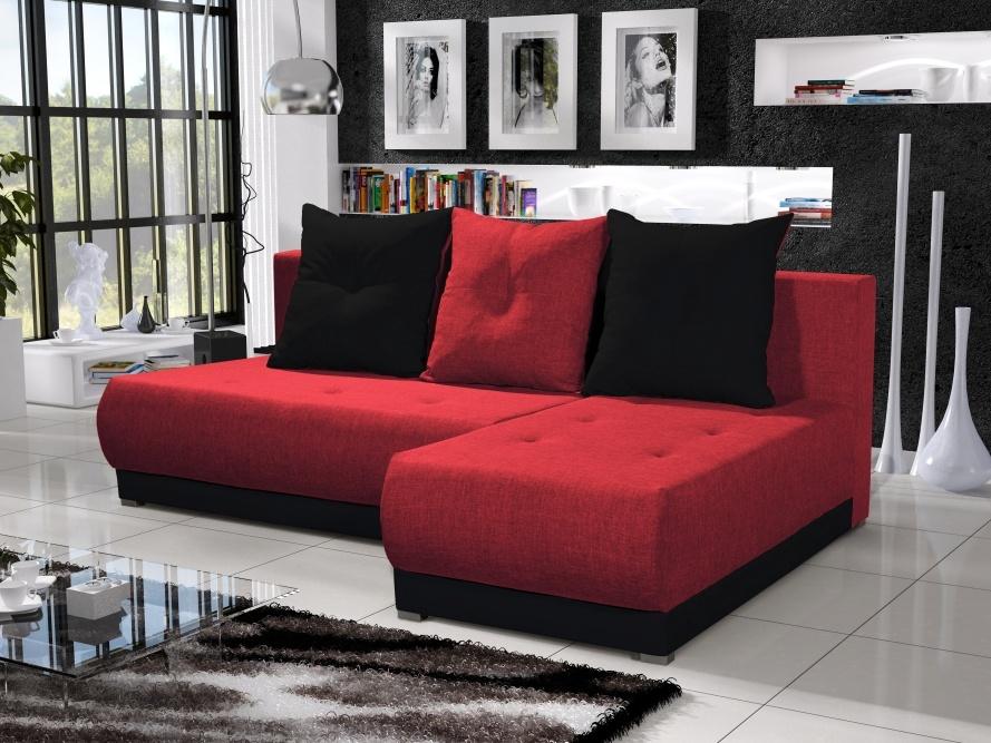 Smartshop Rohová sedačka INSIGNIA 2, červená/černá