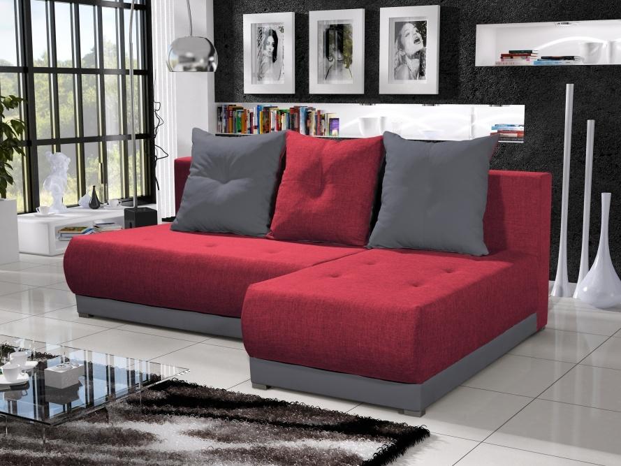 Smartshop Rohová sedačka INSIGNIA 18, červená/šedá