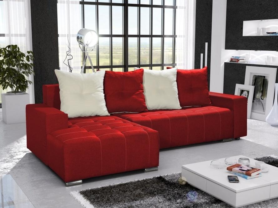 Smartshop Rohová sedačka TELO 4 levá, červená/krémová