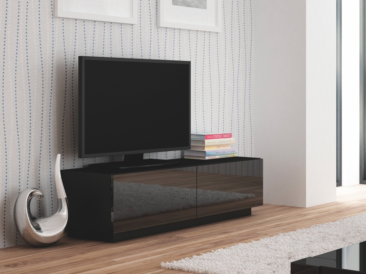 Halmar LIVO RTV-160S televizní stolek stojící, černá