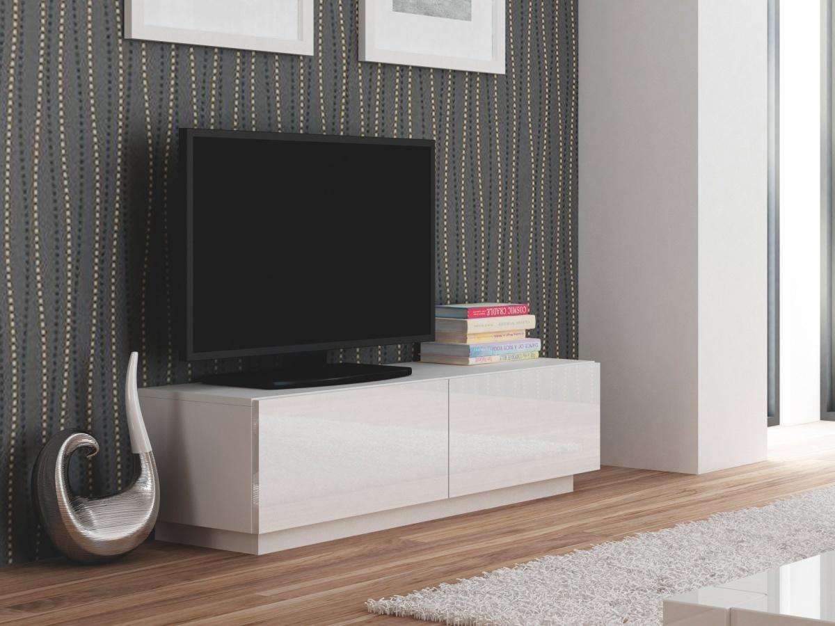 Halmar LIVO RTV-160S televizní stolek stojící, bílá