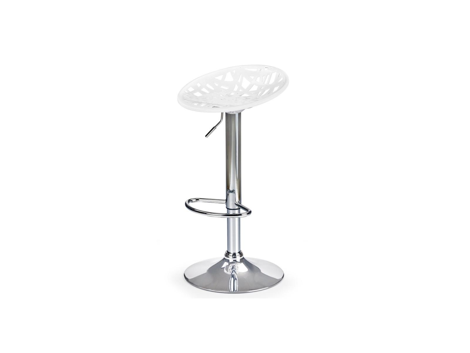 Halmar Barová židle H-56, bílá
