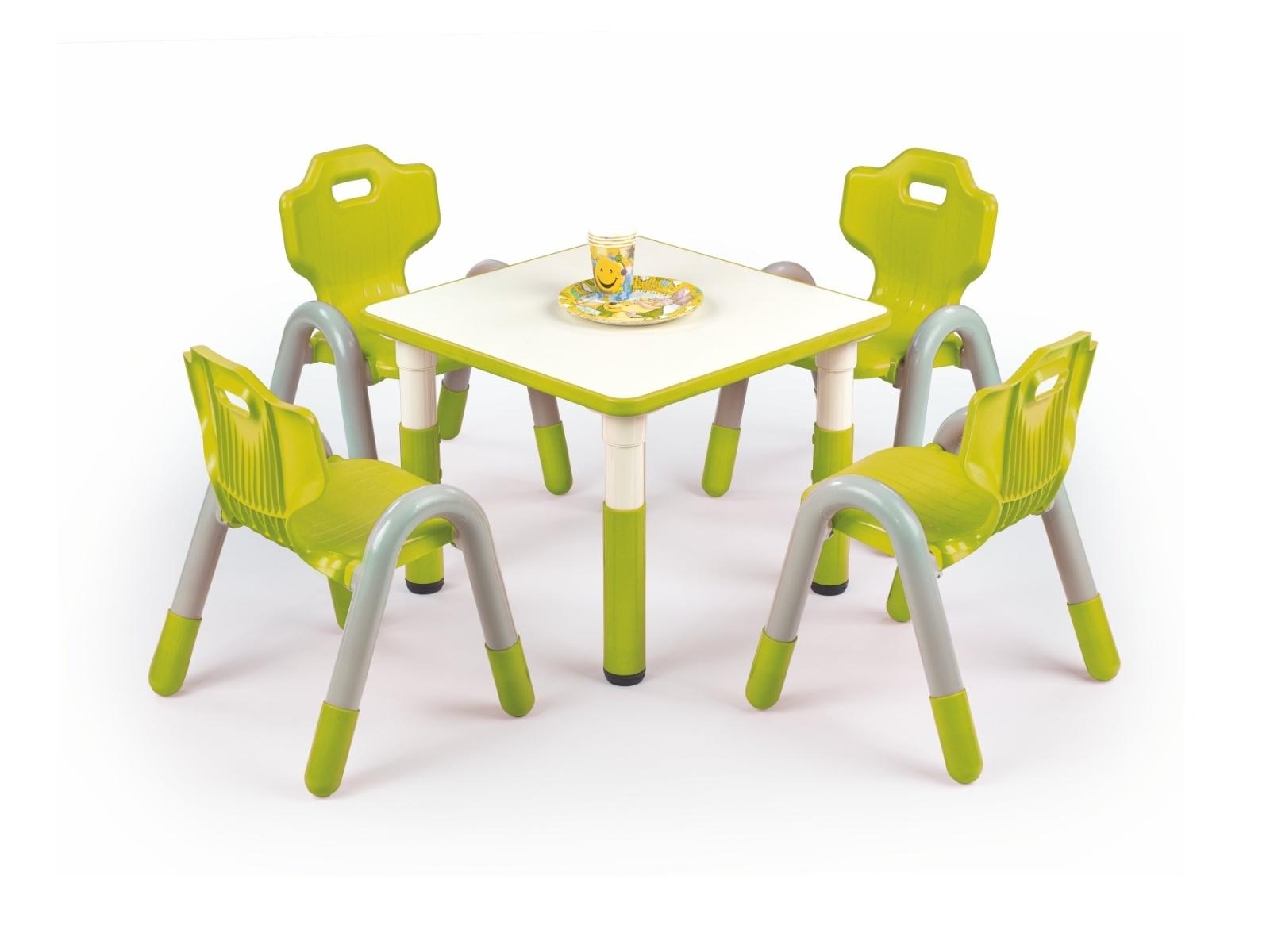 Halmar Dětský stůl SIMBA čtvercový, zelená