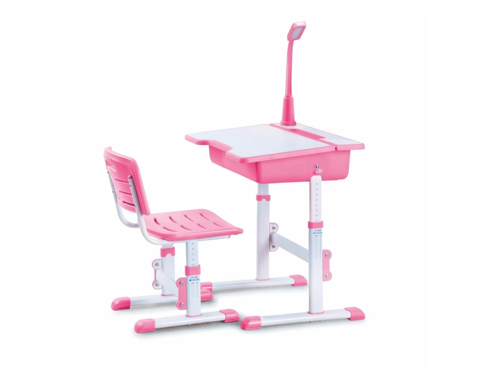 Halmar Dětský psací stůl a židle ASTRO 3, růžová
