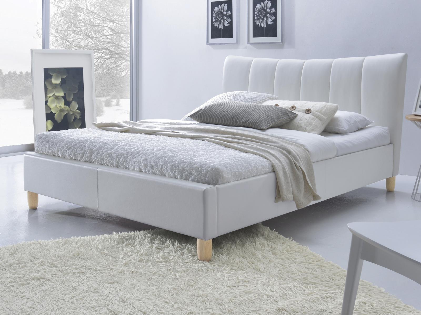 Halmar Postel SANDY 160x200 cm, bílá