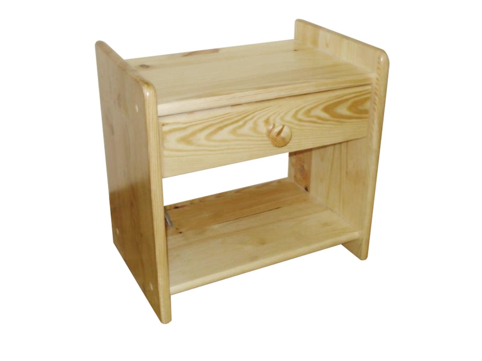 Smartshop Noční stolek, masiv borovice