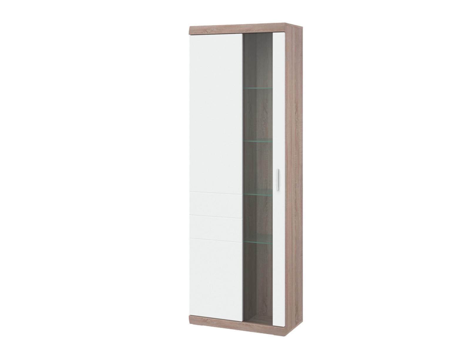 Decodom TOGGO typ 01 vitrína levá, dub bardolino/bílá