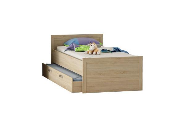 DEMEYERE SCHERWOOD postel 90x200 cm s přistýlkou, dub sonoma