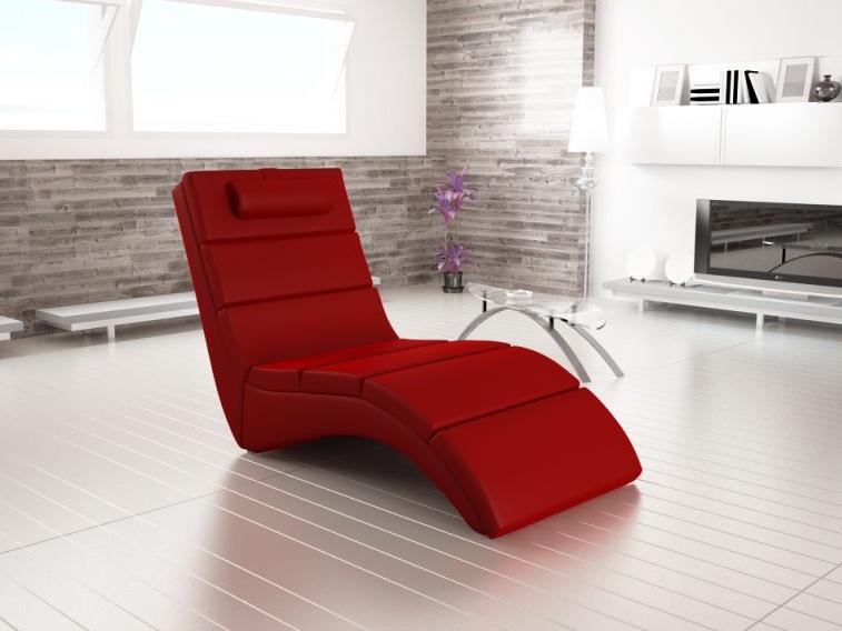 Smartshop Lenoška CHAISE LOUNGE 4, červená