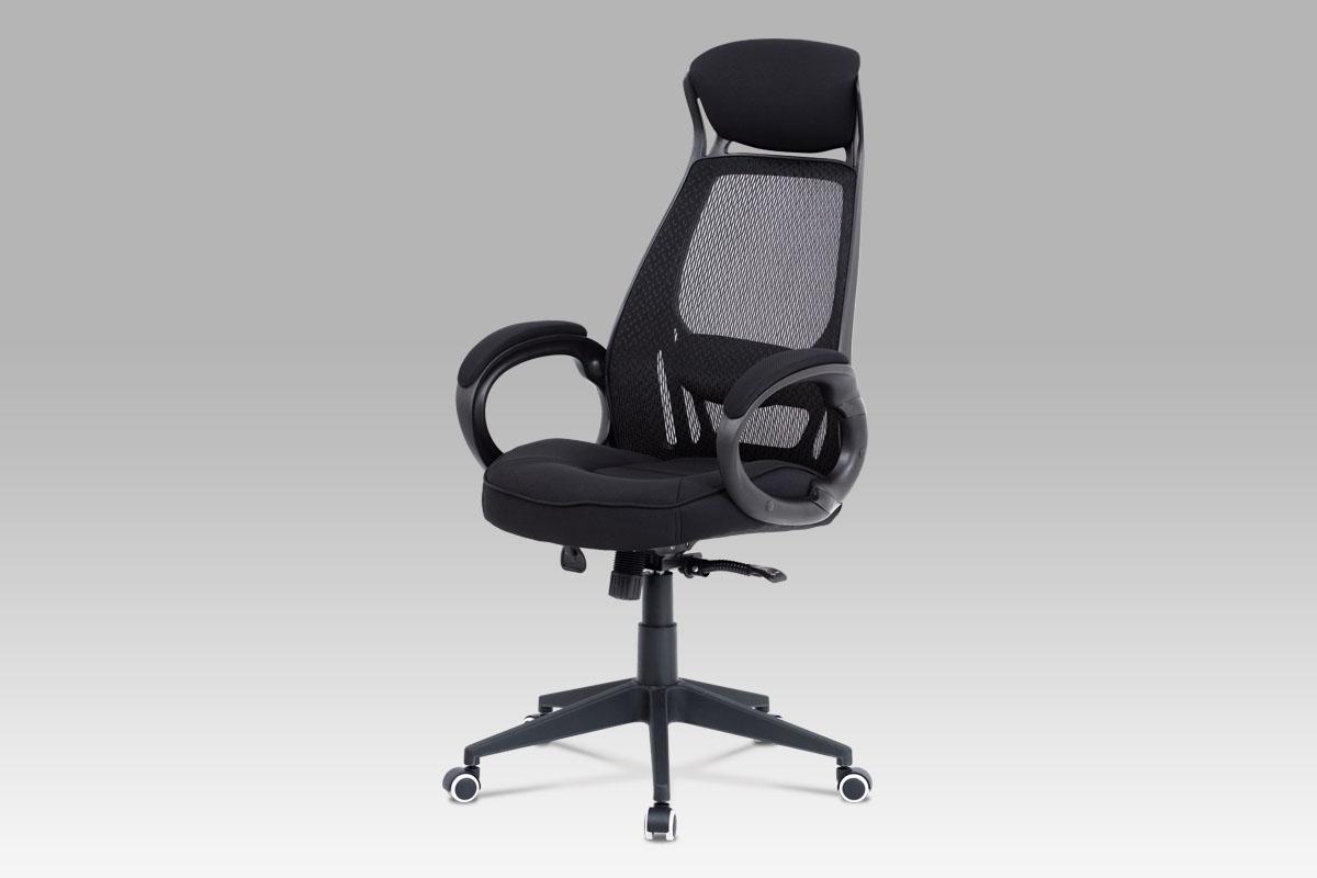 Autronic Kancelářská židle KA-G109 BK1, šedá mesh/černá látka