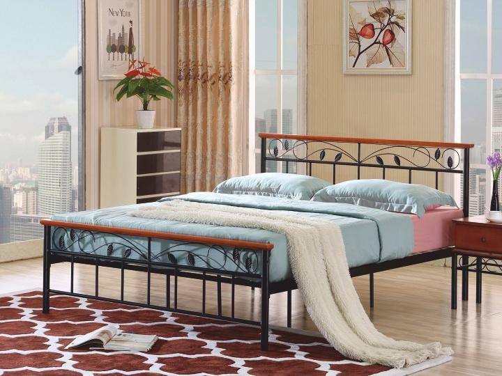 Tempo Kondela MORENA kovová postel s roštem 180x200 cm, třešeň