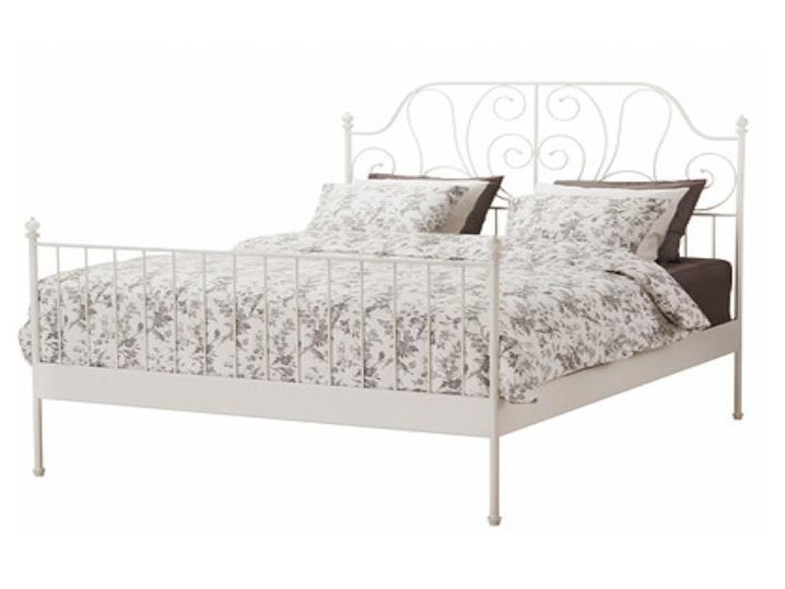 Tempo Kondela BEHEMOTH kovová postel s roštem 160x200 cm, bílá