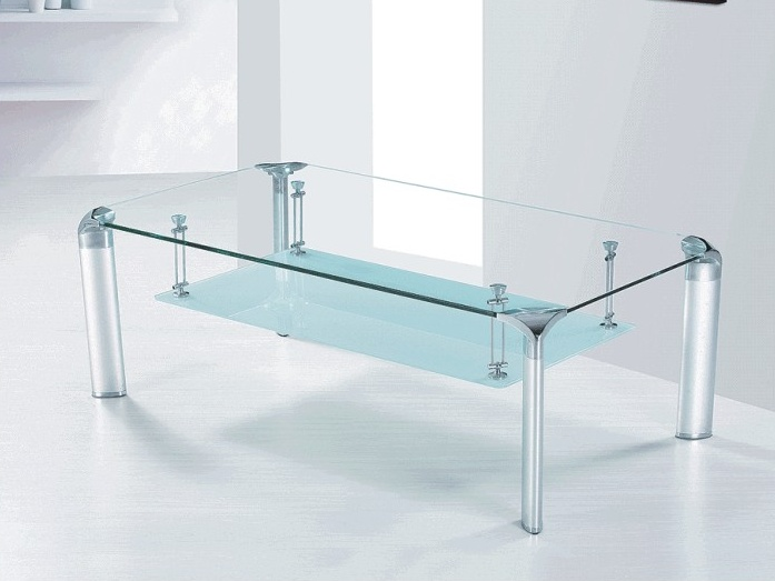 Tempo Kondela RICKY konferenční stolek, sklo/kov