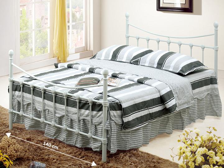 Tempo Kondela NIEVES kovová postel s roštem 140x200 cm, bílá