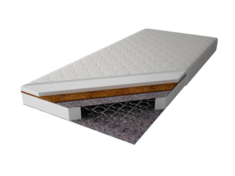 MAGNAT Pružinová matrace PALMEA 90x200 cm s kokosem, potah jersey neprošívaný
