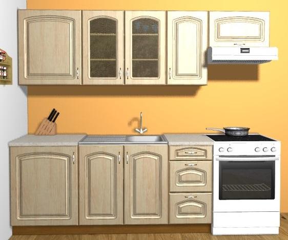 Smartshop Kuchyně LETIS 180/240 cm, sibiřská bříza patina