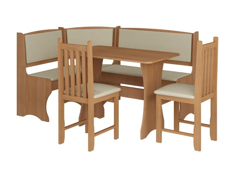 MORAVIA FLAT Jídelní rohový set se židlemi B, barva: olše
