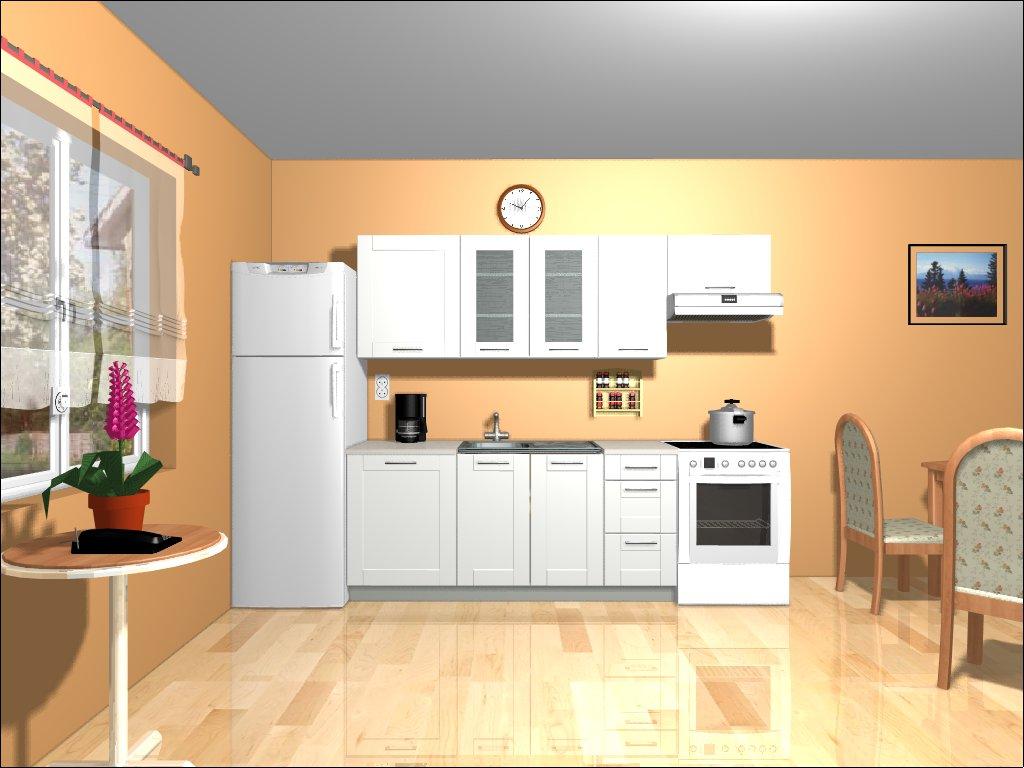 Smartshop Kuchyně EDAN 180/240 cm, bílá canadian